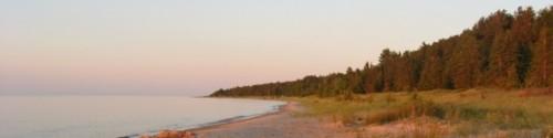 Lake Huron before sunset