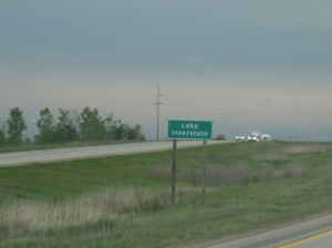 Lake Interstate sign, I-69